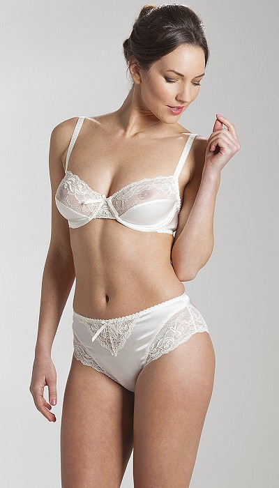 Silk And Lace Bra And Briefs Made In Britain