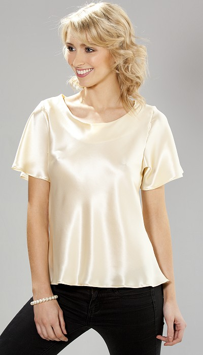 Silk T Shirt. Searching for a wardrobe essential that's as stylish as it is sophisticated. Check out a silk T-shirt. Whether you're headed to work or a night on the town, .